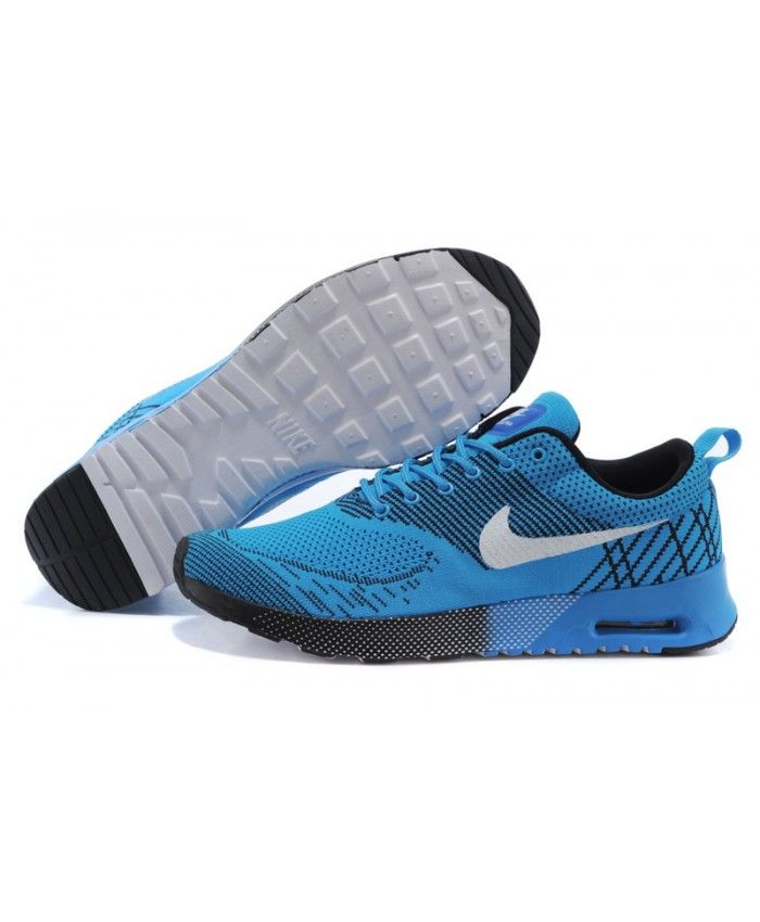 Cheap Nike Air Max 87 Thea Flyknit Dodger Blue Black White