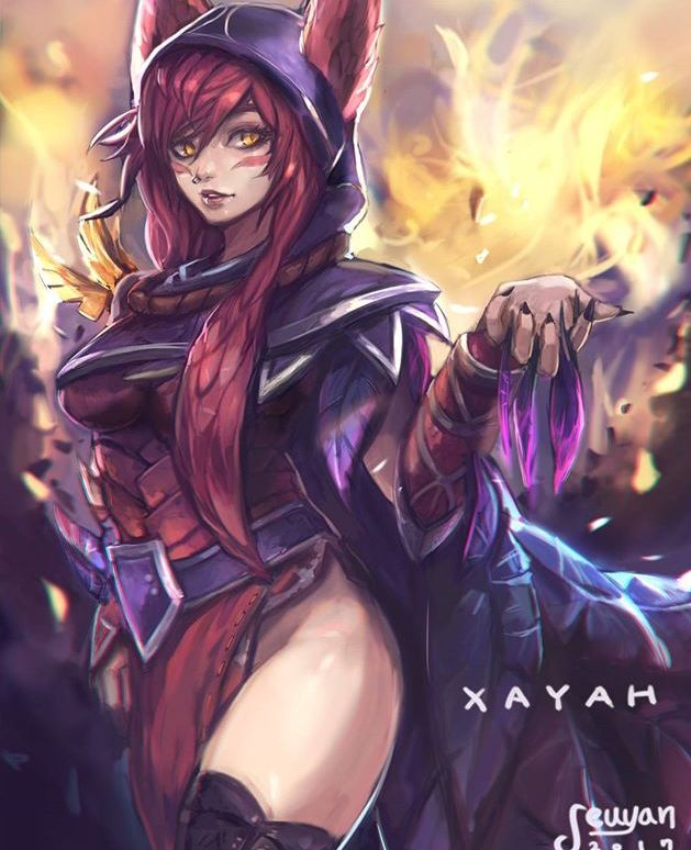 Fan art of Xayah from League of Legends