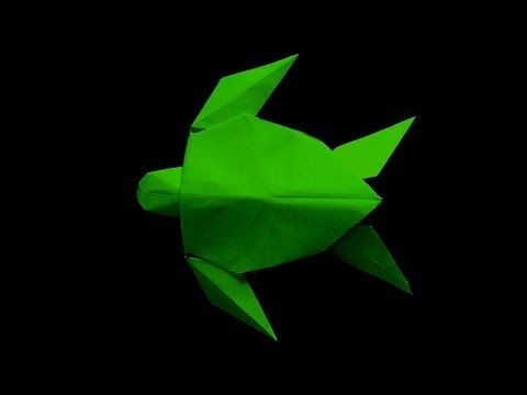 origami green turtle (parte 1) - YouTube