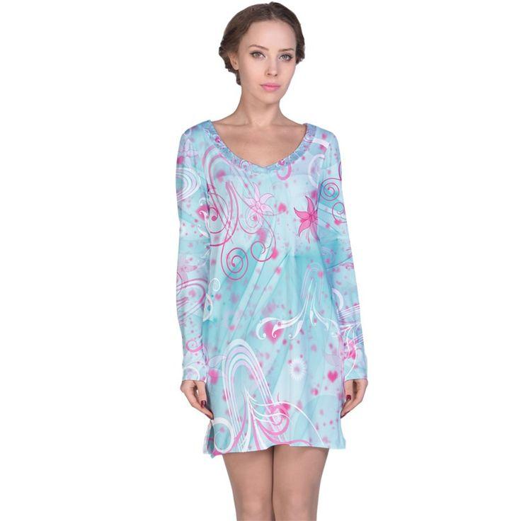Ocean+Love+Long+Sleeve+Nightdress