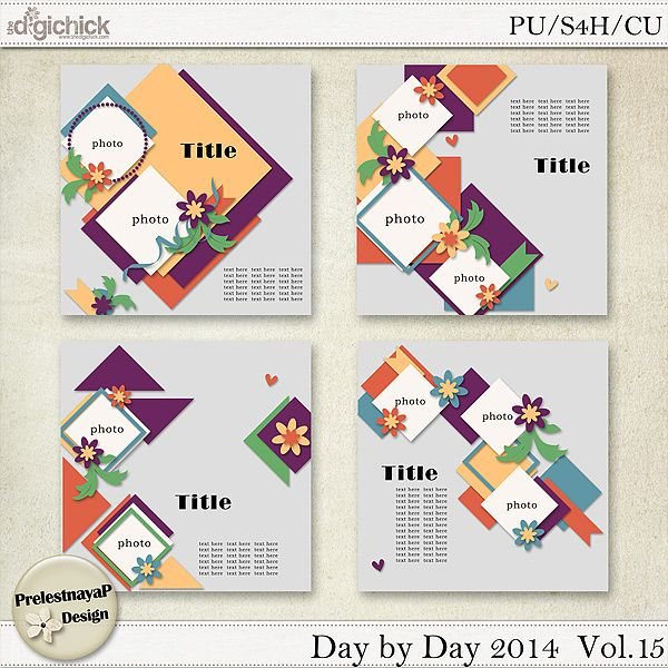 Day by Day 2014 Templates Vol.15 (CU Ok)