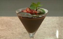 Receita de mousse de chocolate apimentado.