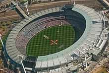 The Melbourne Cricket Ground is strongly associated with the history and development of cricket and Australian rules football, Australia's two most popular spectator sports.[330] About 24% of Australians over the age of 15 regularly participate in organised sporting activities.[221] At an international level, Australia has excelled at cricket, field hockey,netball, rugby league and rugby union.[331] The majority of Australians live within the coastal zone, making the beach a popular…
