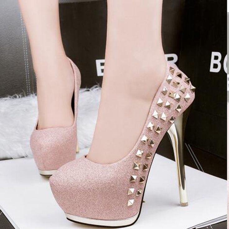 platform pumps glitter shoes sexy heels women shoes pumps pink heels silver wedding shoes  high heels bridal shoes gold D820