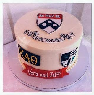 Penn CakePenne Engagement, Christmas Mardi, Hanukkah Christmas, Penne Alumni, Royal Weddings, Upenn Cake, Penne Cake, Engagement Cake, Mardi Gras