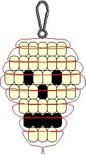 pony bead patterns halloween - Google Search                                                                                                                                                                                 More