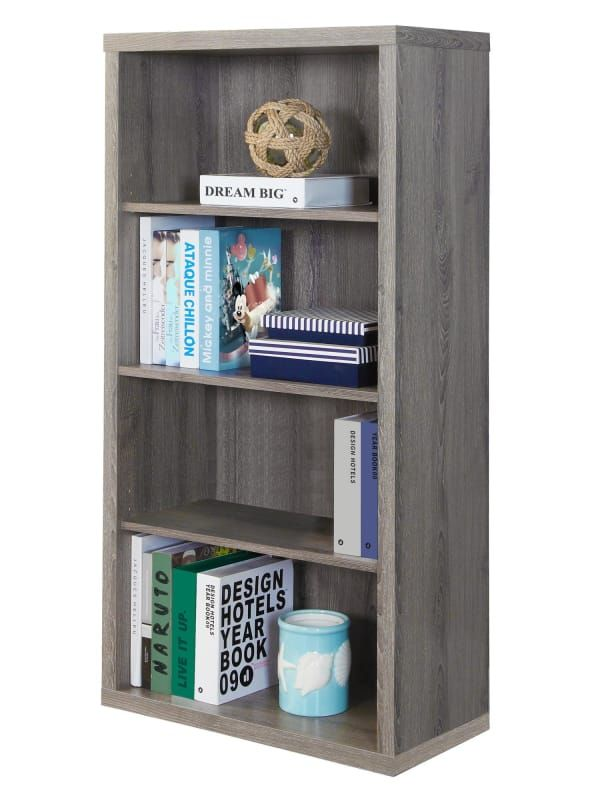 Monarch Specialties I 7060 Adjustable Shelving Bookcase Shelves