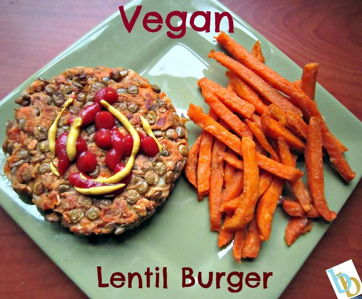 Vegan Lentil Burger | Cooking | Pinterest