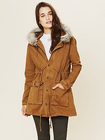 Fur Hooded Parka  http://www.freepeople.com/whats-new/fur-hooded-parka-25690264/