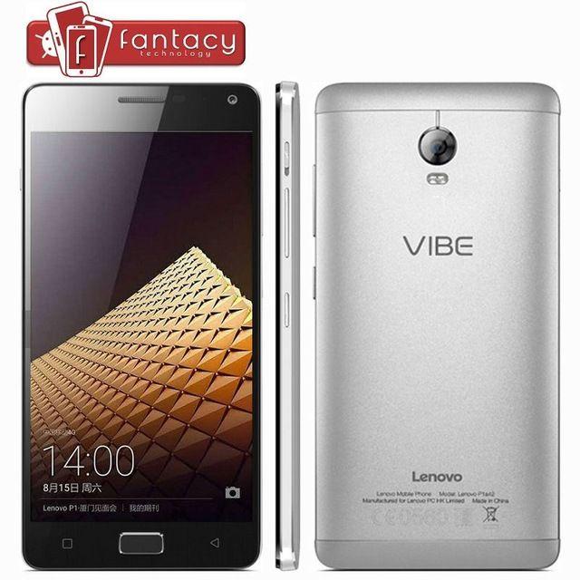 "Оригинальный Lenovo Vibe P1 5000 мАч 4 г LTE Snapdragon615 телефон Octa ядро 2 ГБ оперативной памяти 5.5 "" FHD 1920 x 1080 P 13.0MP быстрая зарядка Android 5.1"