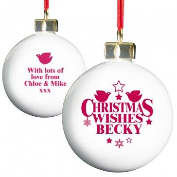 christmas wishes bauble