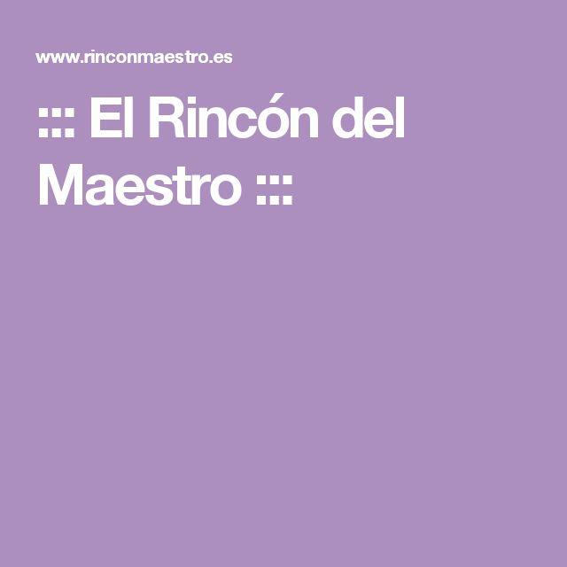 ::: El Rincón del Maestro :::
