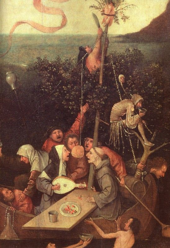 """THE SHIP OF FOOLS"" by Hieronymus Bosch"