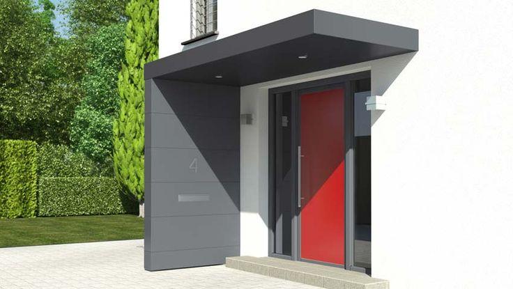 Ganz neu von Siebau: Eingangsüberdachungen mit einer Verkleidung aus Fassadenplatten Die neue Siebau Eingangsüberdachung in L-Form wird doppelwandig mit...
