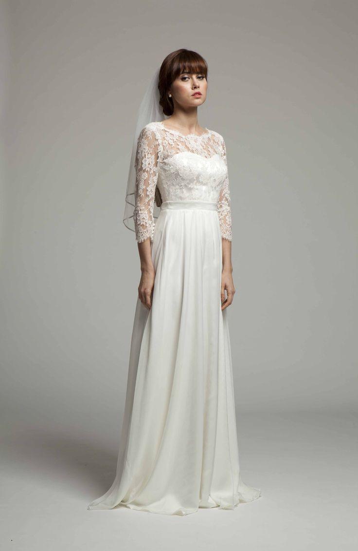 Ava Dress ~ Front view ~ Melanie Potro Bridal Couture 2014 Collection