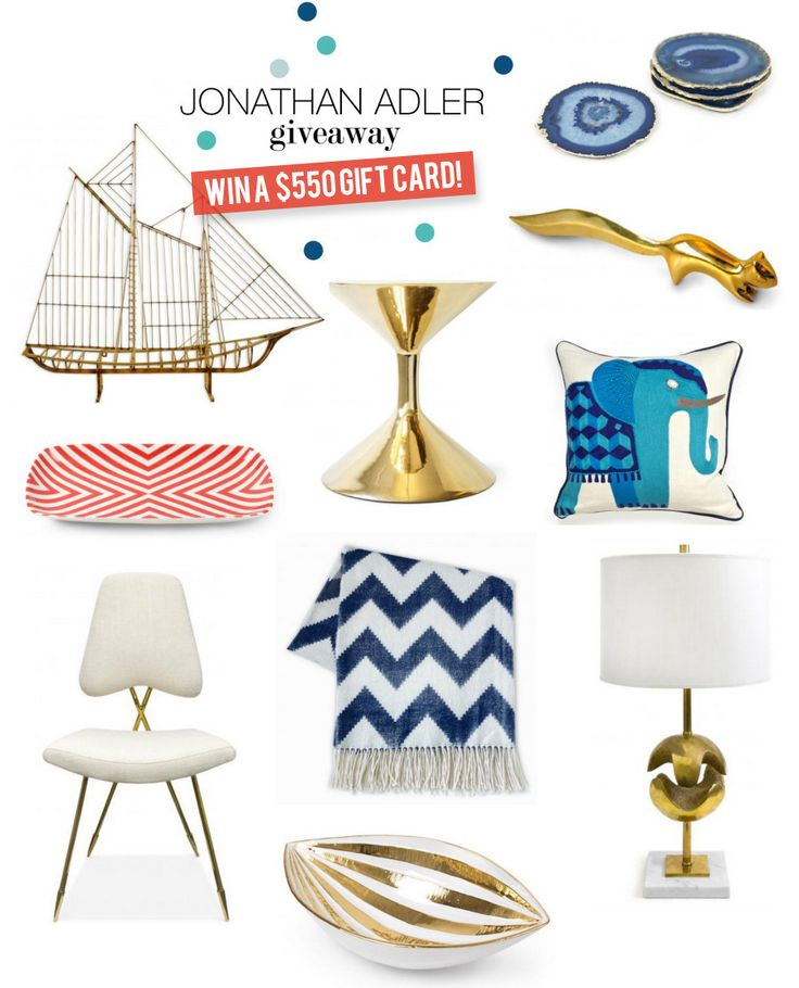 $550 Jonathan Adler Giveaway! #SMPLivingGiveaway   Read more - http://www.stylemepretty.com/living/2013/09/16/550-jonathan-adler-giveaway/