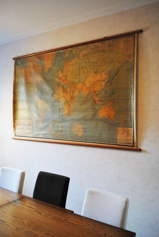 14 best world map images on pinterest world maps world map wall huge wall hanging decoration old vintage world map dutch design on a budget gumiabroncs Image collections