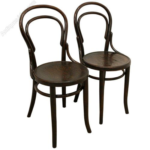 Circa 1910, Pair Of Classic Bentwood Chairs, One With Thonet On Them, The  Other Has U0027made In Czechoslovakiau0027. The Chairs Have The Double Hooped Back  Over A ...