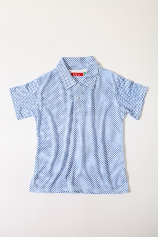Bakker made with love - polo met korte mouwen met lichtblauwe print (3 tot 8 jaar) | T-shirts | Calomel