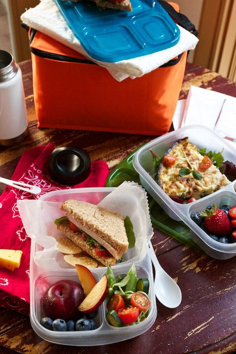 Packing lunches the night before really helps cut down on morning chaos. EasyLunchbox containers stack nicely in the fridge. Cooler bags are $7.95 each. $13.95 for a set of 4 containers. Free shipping within the USA on Amazon http://amzn.to/BuyLunch