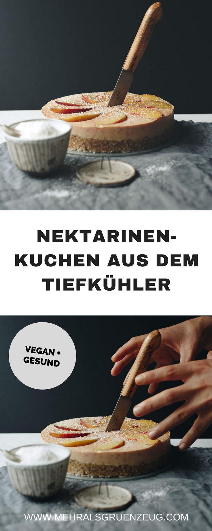Hier geht es zum Rezept für einen sehr einfachen, veganen Nektarinen-Kuchen aus dem Tiefkühler. Perfekt für den Sommer, perfekt für's Naschen ohne Reue!