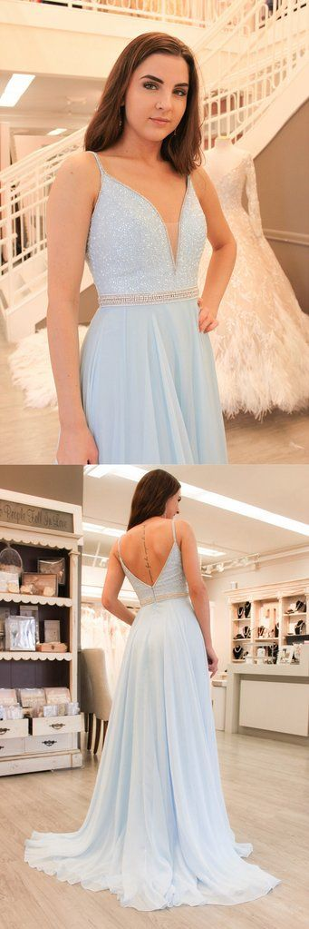 Light Blue Prom Dress, Back To School Dresses, Prom Dresses For Teens, Pageant Dress, Graduation Party Dresses BPD0577