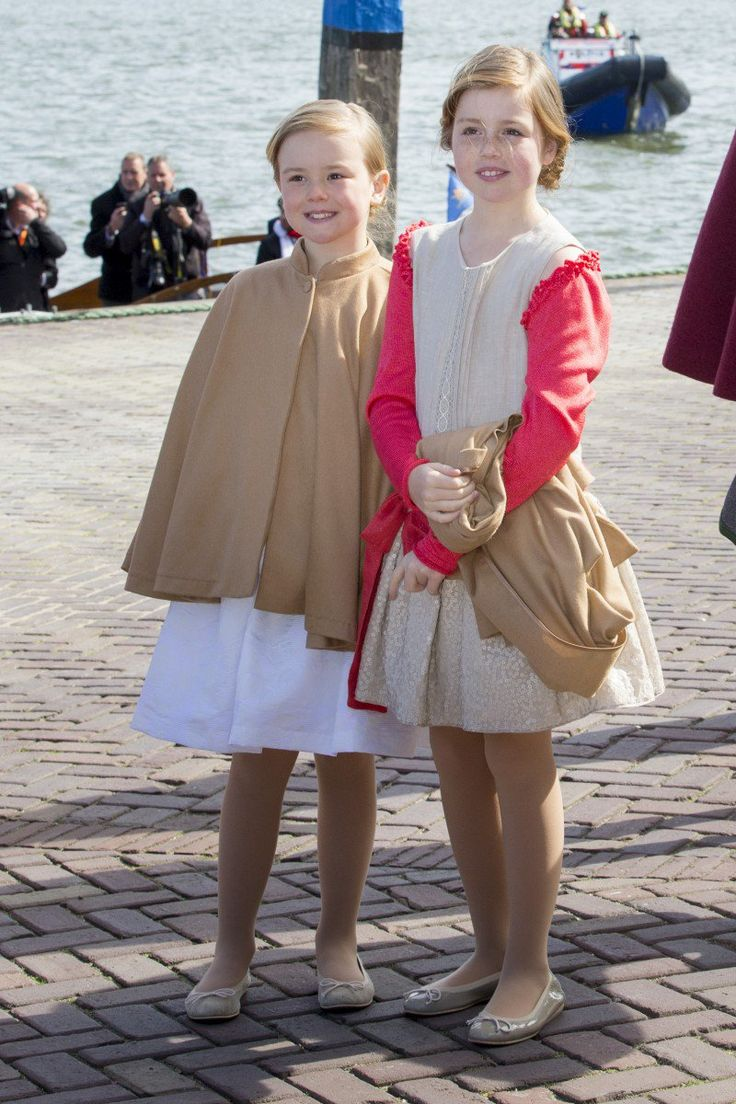 Princess Ariane and Princess Alexia looked cute in matching outfits and capes.