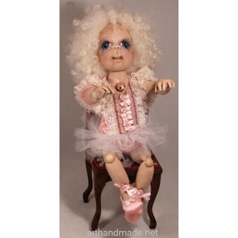 Textile doll Feechka, BJD. Author Marysia Semitsvet - arthandmade.net/... Doll, ball-jointed doll, BJD, collectible doll, handmade doll, gift, original gift, craft, handmade, collection, Gallery Magical World, кукла, купить куклу, шарнирная кукла, коллекционная кукла, кукла ручной работы, подарок, оригинальный подарок, ручная работа, коллекция, Галерея Волшебный мир