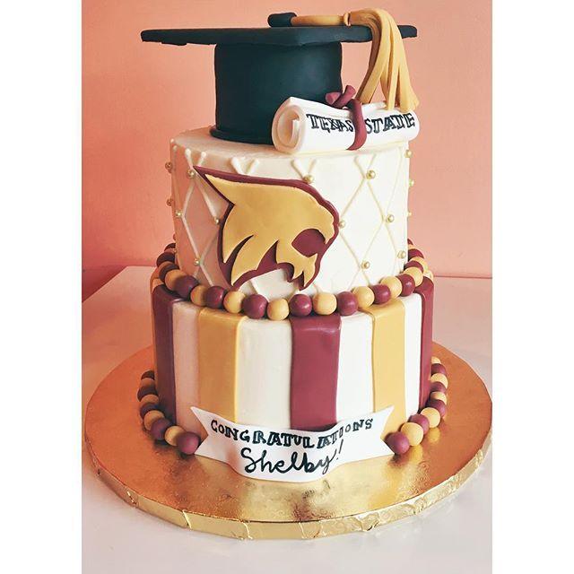 Texas State Graduation Cake by 2tarts Bakery / New Braunfels, TX / www.2tarts.com