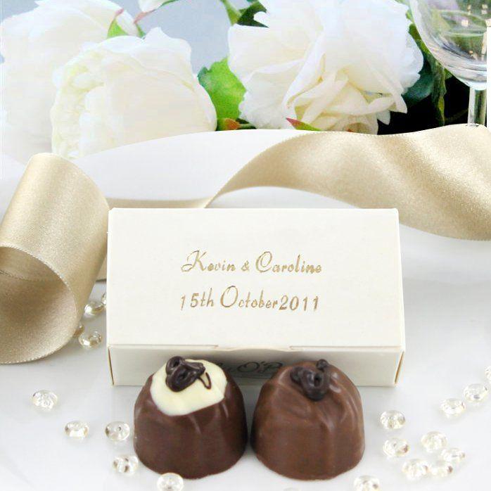 Personalised Chocolate Wedding Favours - 2 Chocolate Box