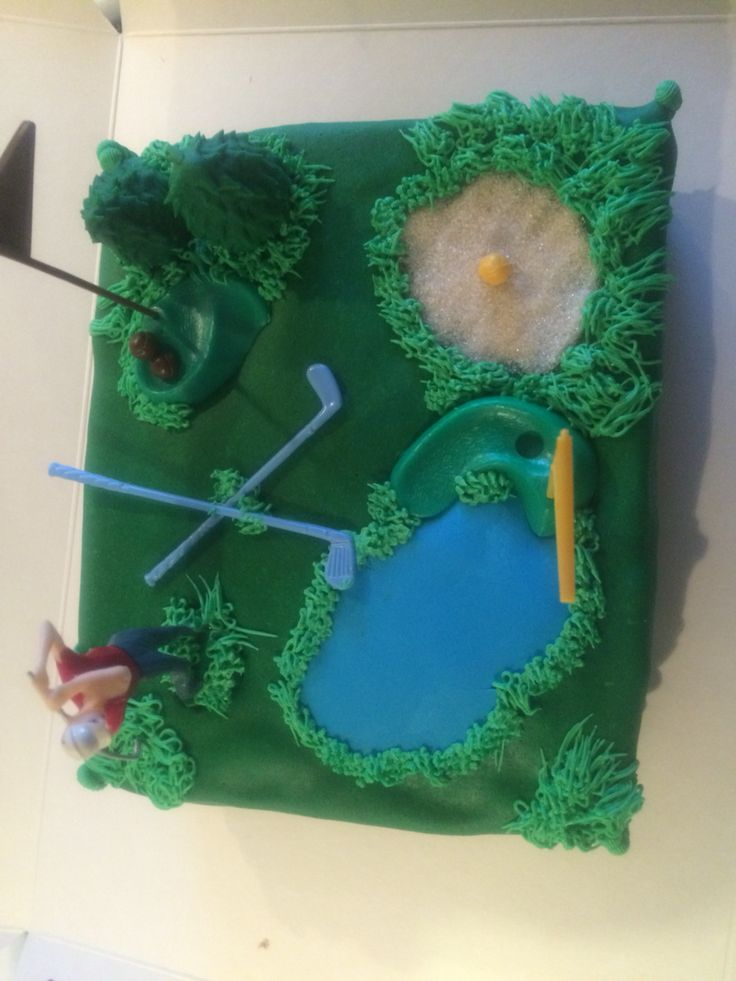 Golf birthdaycake