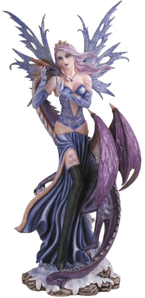 Fairy Collection Pixie With Baby Dragon Fantasy Figurine Decoration