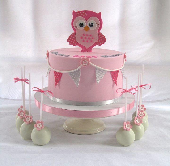 Baby Shower or Birthday Cake & Cake Pops