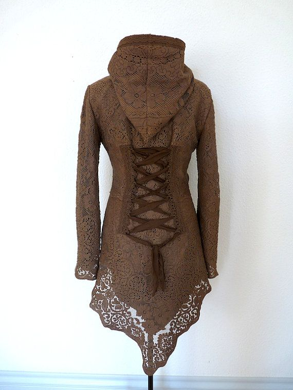 LACE CARDIGAN JACKET Steampunk Pixie Tribal fairy by SINDdesign, $219.00