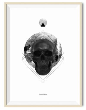 Circle Skull 01 - A3 poster - Another Poster Shop