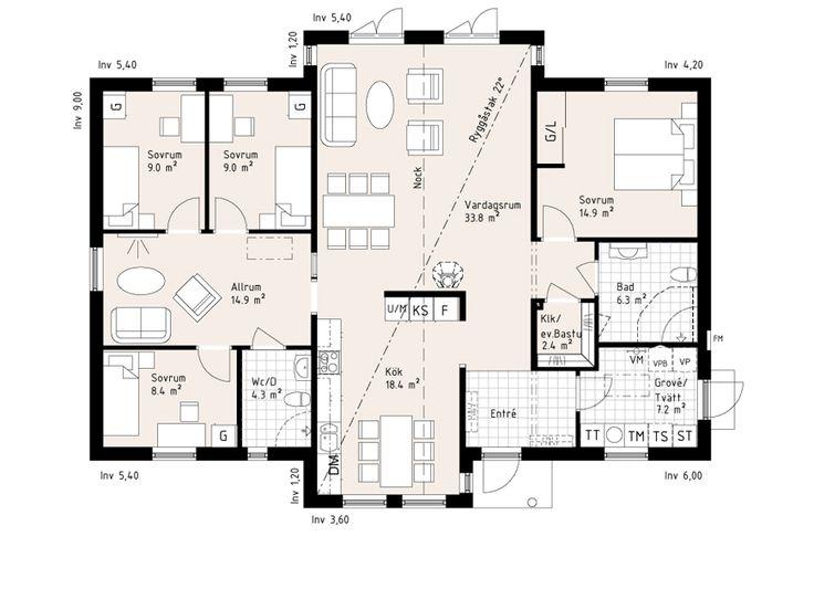 Milton är en 1-plansvilla med rikligt ljusinsläpp - Myresjöhus