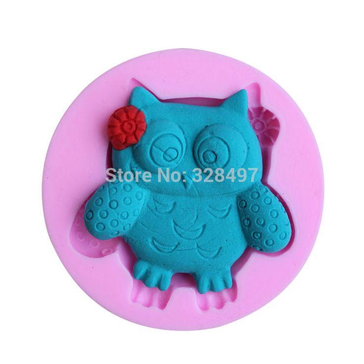 Petit hibou forme mains forme 3D gâteau en Silicone moule, Cartoon Figre / outils de gâteau savon Mold décoration de gâteau G073(China (Mainland))