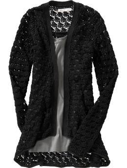 open front crochet cardi