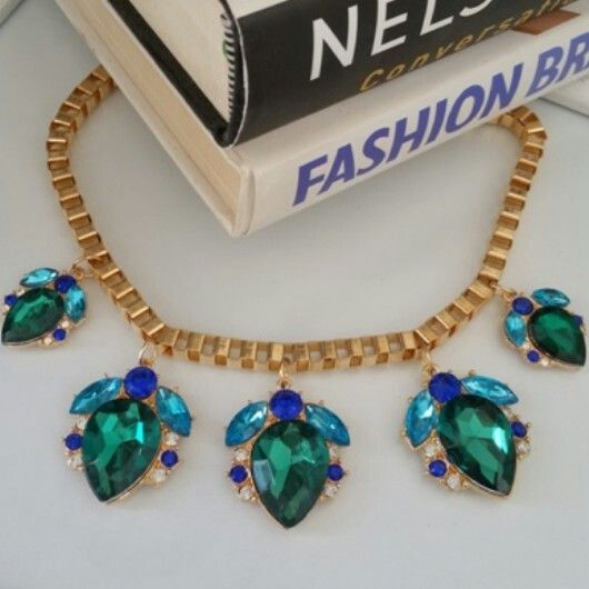 Emerald Essence - R150. Statement Necklace Trend ♡ Email zulululuza@gmail.com for the latest catalogue.