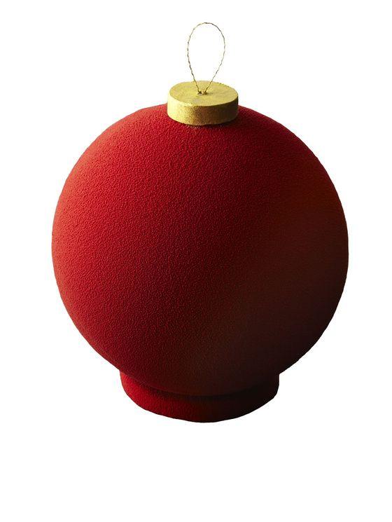 Superior Boules De Noel Rouge #3: La Bûche Selon Cyril Lignac Vous Joue Des Tours Cette Année, Et Prend Les  Allures