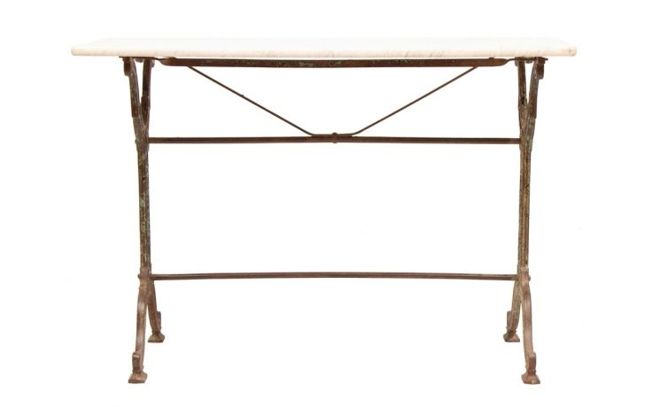 French Cast Metal Console Table With Stone Top C 1880 Antiques In 2019 Metal Casting Console Table Metal