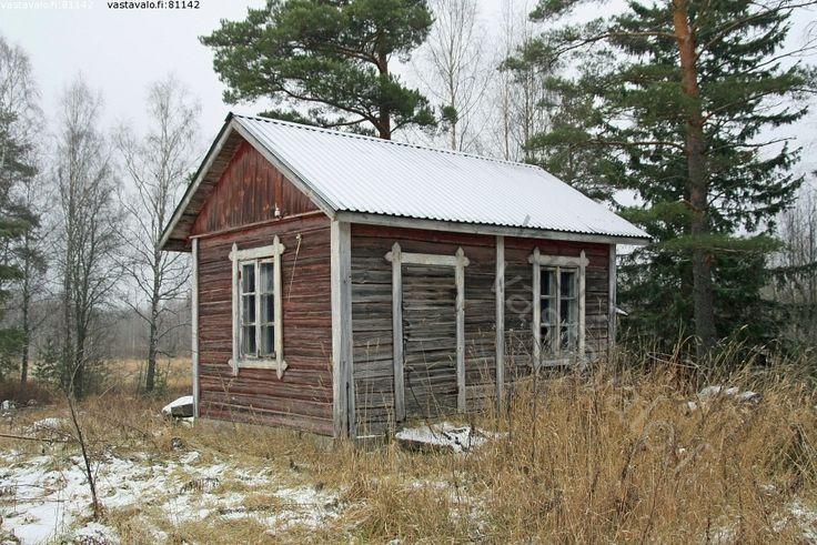 vanha saunamökki - mökki sauna rakennus hirsirakennus hirsi ...