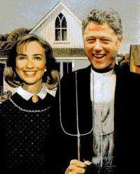 American Gothic: Bill and Hilary Clinton