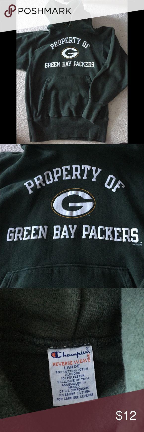 Men's Green Bay Packers Hoodie Men's Green Bay Packers Hoodie Missing draw string  Thick sweatshirt Champion Shirts Sweatshirts & Hoodies