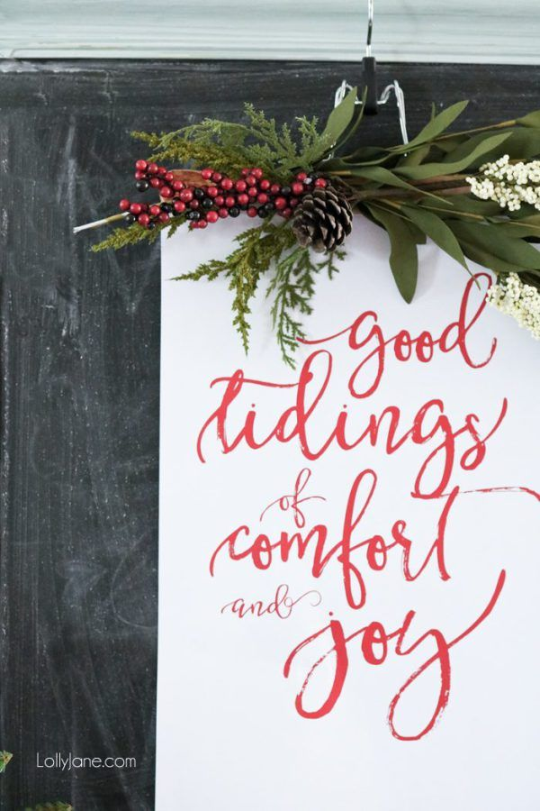 Resize for Project Life filler card. Source: Christmas vignette with free printable – Lolly Jane