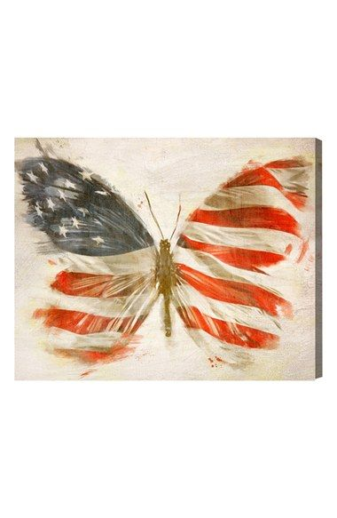 Oliver Gal 'American Butterfly' Canvas Art