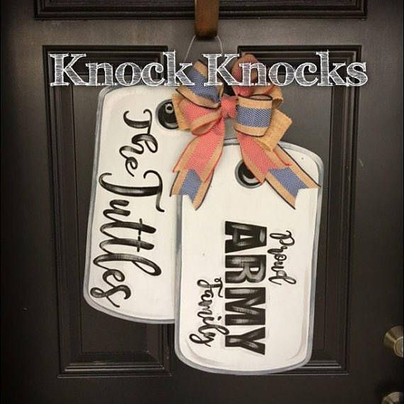 Dog Tag Door Hanger Etsy In 2020 Military Crafts Welcome Home