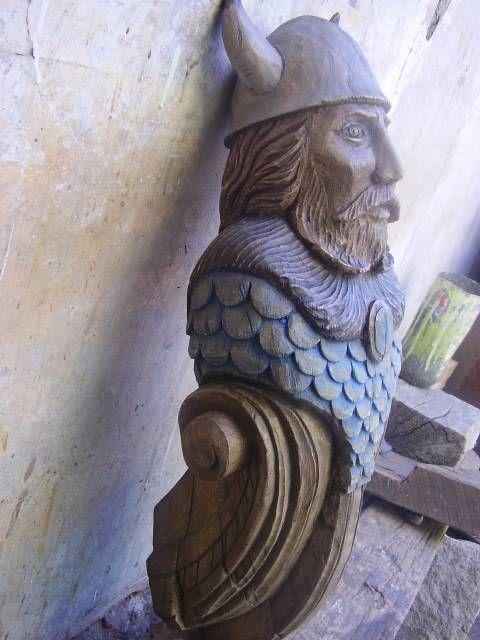 Mascarón de proa, Vikings