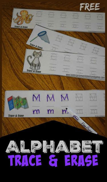Kids will have fun practicingalphabetletterswith these fun, resuable and FREEAlphabet Trace and Erase. You can grab these FREEAlphabet Trace and Erase from our sister site today!
