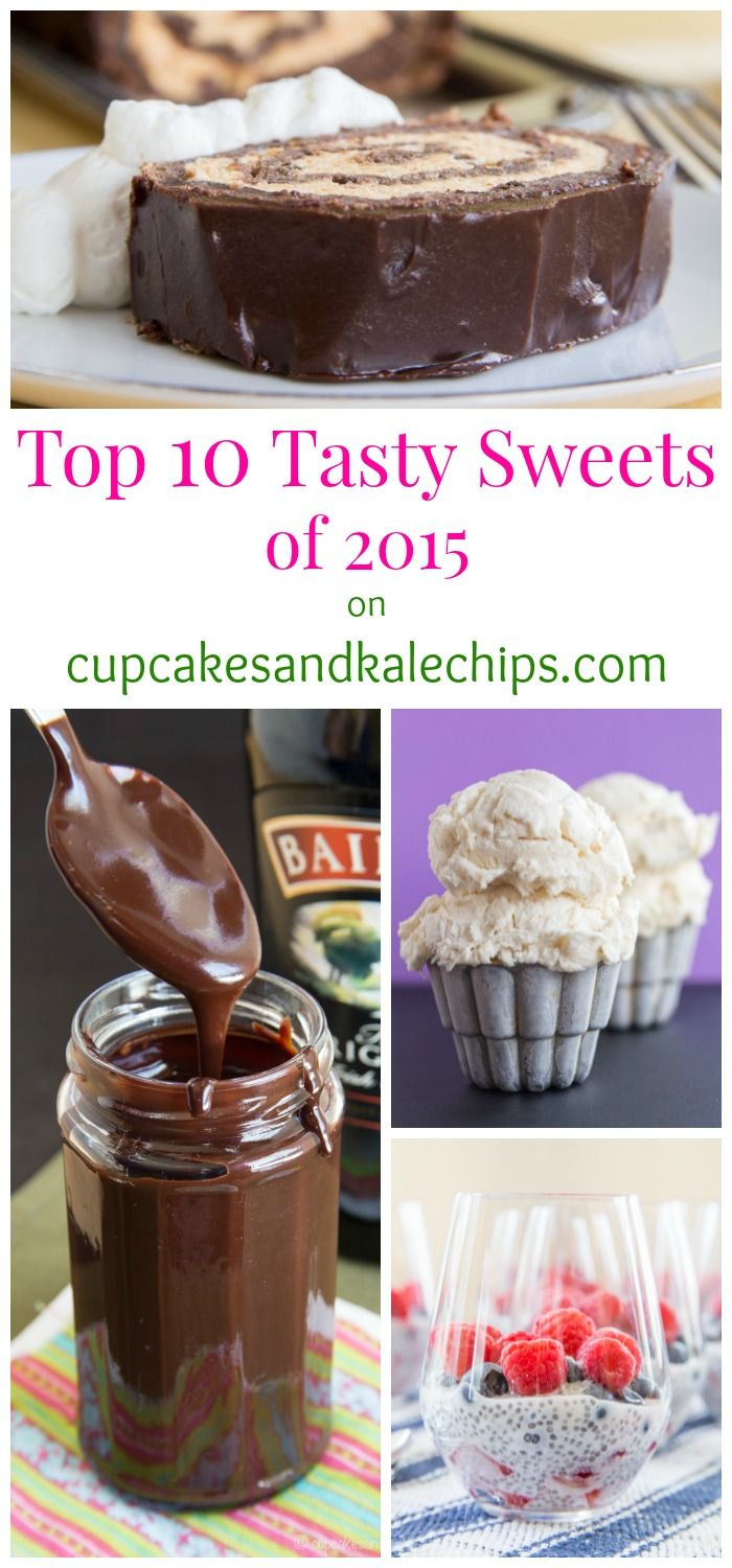 My Top 10 Tasty Sweets - The Most Popular Dessert Recipes of 2015 on cupcakesandkalechips.com